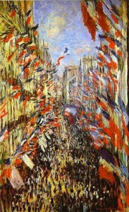 Monet's depiction of Rue Montorgueil in a painting with the same name- 1878, Paris, France