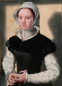 Portrait of a Lady - c. 1551, Flemish. Caterina van Hemmessen