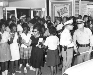 Civil rights demonstration in front of a segregated theater: Tallahassee, Florida, 1963