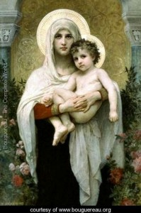 """""""The Madonna of the Rose""""- William-Adolphe Bouguereau, France"""
