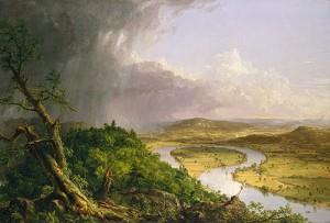 View from Mount Holyoke, Northampton, Massachusetts, after a Thunderstorm–The Oxbow, 1836 Thomas Cole (American, 1801—1848)
