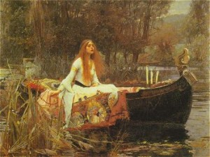 'The Lady of Shalott' John William Waterhouse - 1849-1917