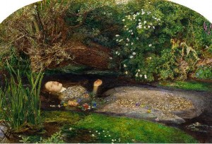 """Ophelia"" by John Everett Millais (1852) England"