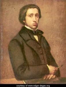 Edgar Degas - self portrait 1855, France.
