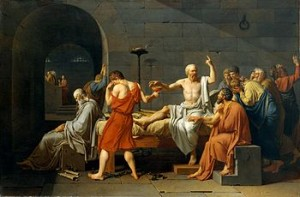 The Death of Socrates Jacques Louis David, French c. 1787