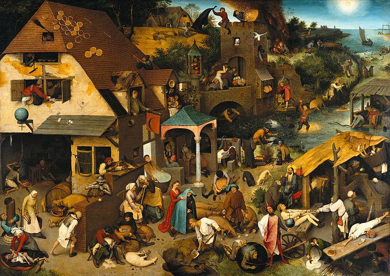Netherlandish Proverbs Pieter Bruegel the Elder, Flemish, 1559