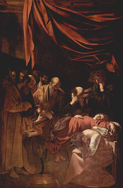 The Death of the Virgin Michelangelo Caravaggio Rome c. 1606