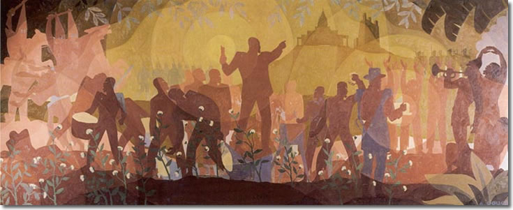 Aspects of Negro Life: From Slavery Through Reconstruction, Aaron Douglas, American c. 1934