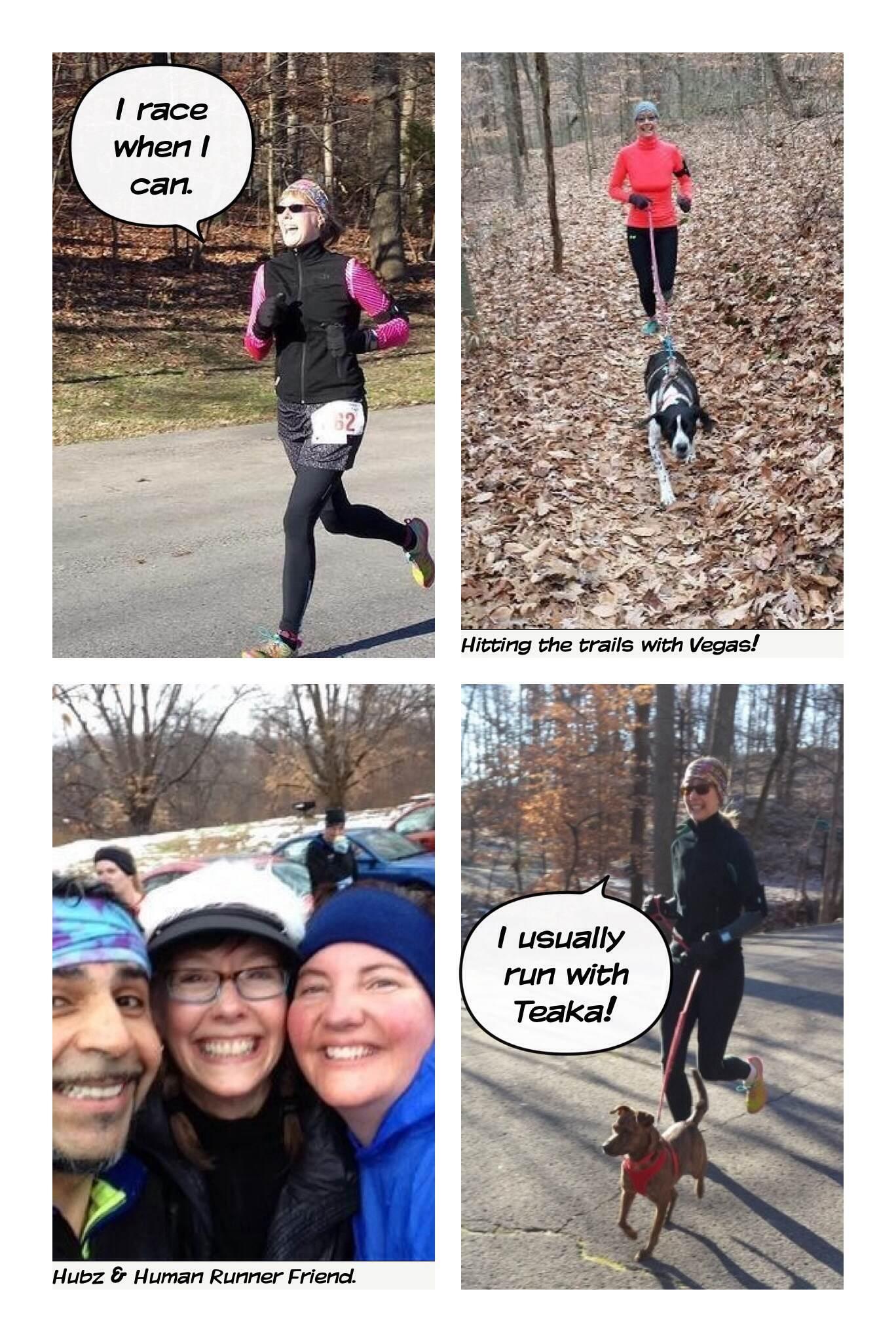 running collage